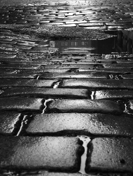 New york by Frederic Bourret - wet cobble stone is one of my favorite childhood memories of NYC.. Is also one of my favorite adult memories of NYC. :)