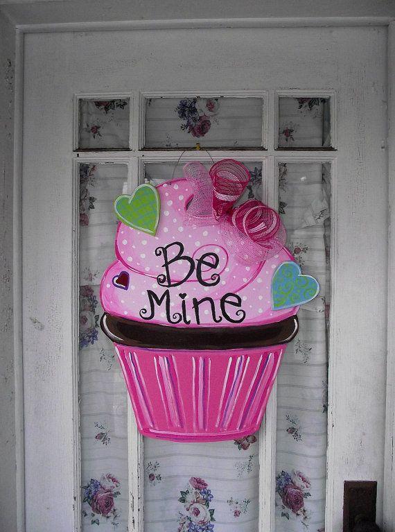 Valentine's Day Cupcake Door Hanger