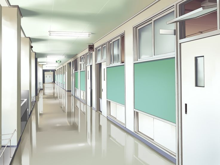 Anime scenery- school hallway | - 47.8KB