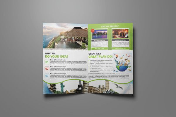 Tri Fold Travel Agency Brochure Template   Travel Brochure