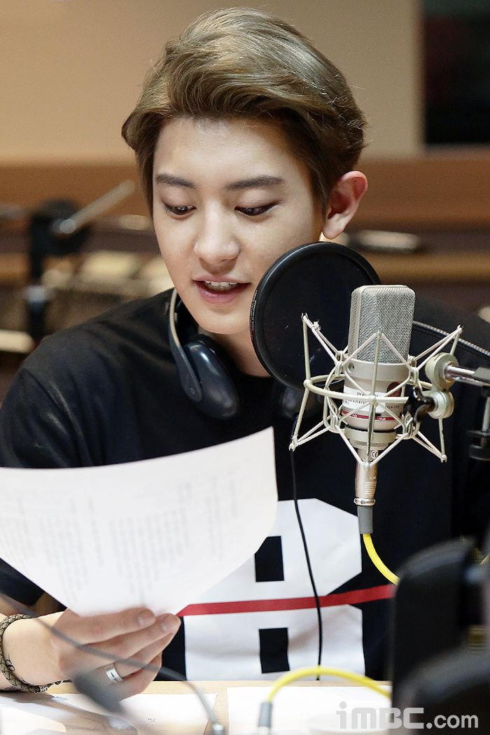 150411 MBC Official Website update: EXO at Sunny's FM Date ❤
