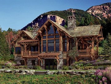 A little log cabin in Yellowstone Country.