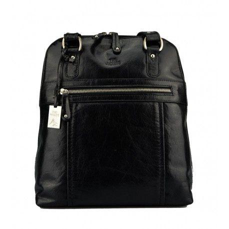 Flot combi rygsæk fra The monte i sort kalveskind - 52120