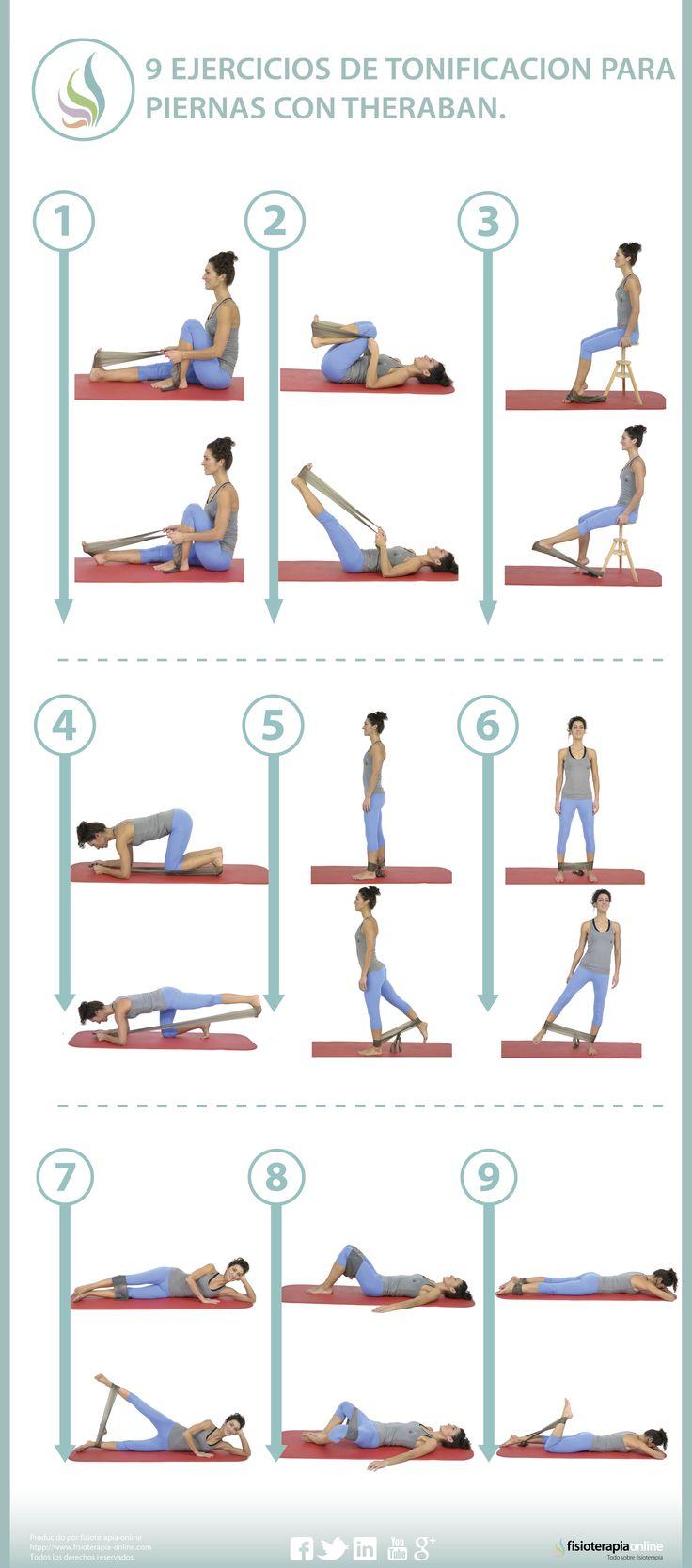Aprende como tonificar o potenciar tus glúteos y piernas con bandas elásticas.