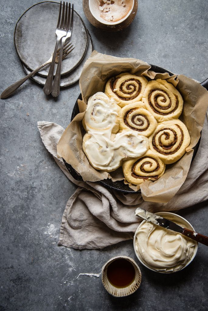 Sticky Date Cinnamon Rolls | Two Red Bowls