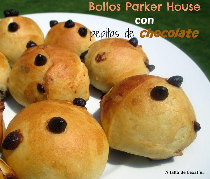 Bollos Parker House con pepitas de chocolate...Doowaps