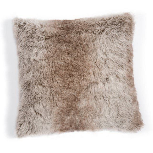 Cuscino finto lupo grigio chiaro