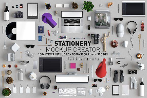 Hero Stationery Mockup Creator by Andre28 on @creativemarket