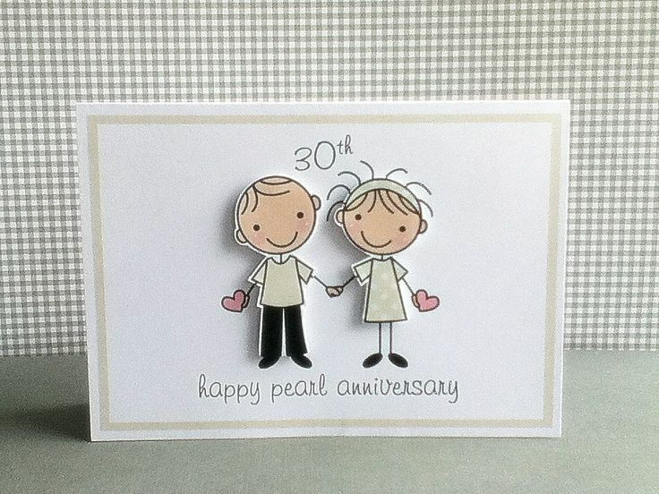 What Is The 30th Wedding Anniversary Gift: Wedding Day Congratulations Card Handmade Personalised
