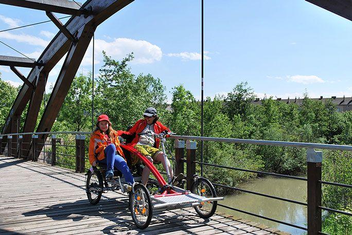 Radfahren mit Kindern metallhase Vierrad Fahrrad Mutter