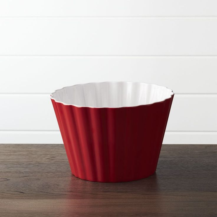 Scalloped Melamine Popcorn Tub - Crate and Barrel