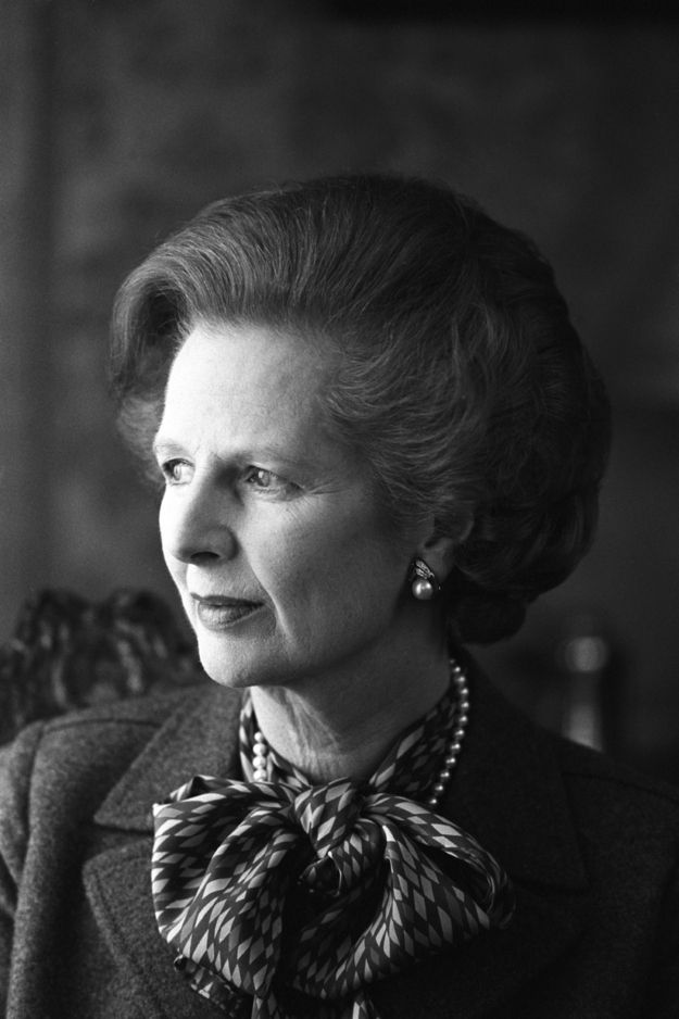 "Margaret Thatcher - Irish hunger strike; Falklands War; sold council housing to tenants; miners' strike 1984–85; privatisation of many previously government-owned industries; decreased the power of trade unions; negotiation of the UK rebate towards the European Community budget; Brighton hotel bombing; Sino-British Joint Declaration; Anglo-Irish Agreement; Westland Affair; abolition of GLC; Section 28; the ""Poll tax"" and Poll Tax Riots; Lockerbie bombing; end of the Cold War; Gulf War."