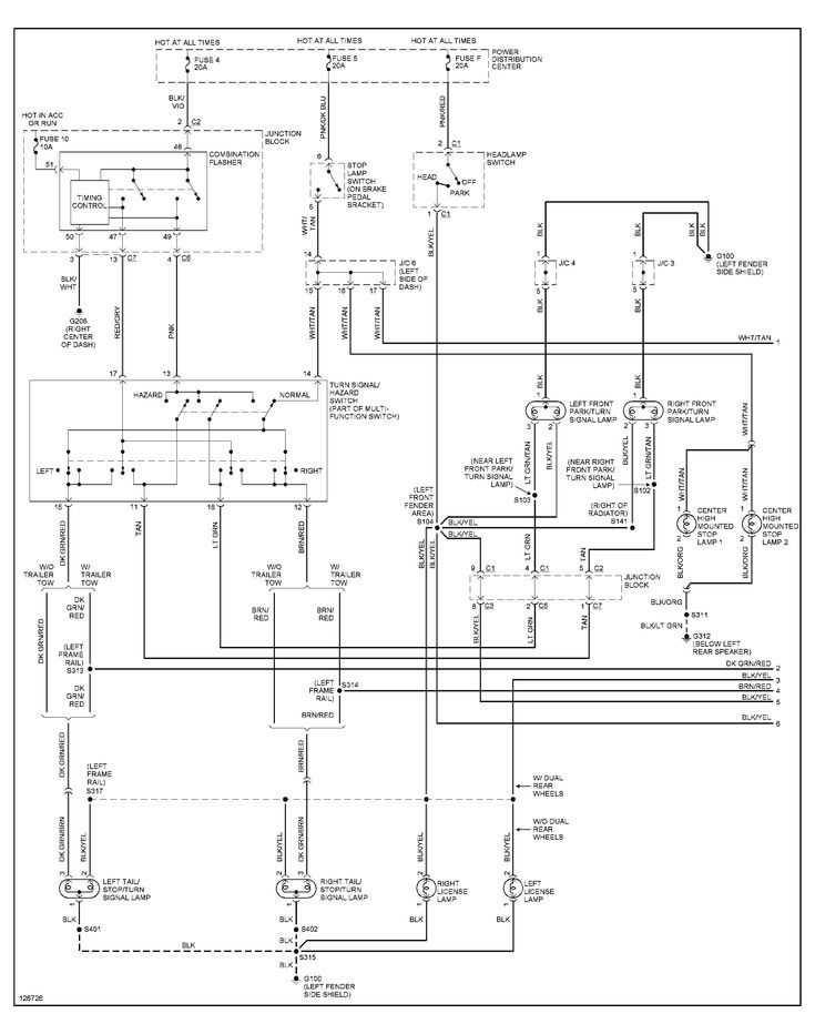 2001 Dodge Ram 1500 Tail Light Wiring Diagram in 2020