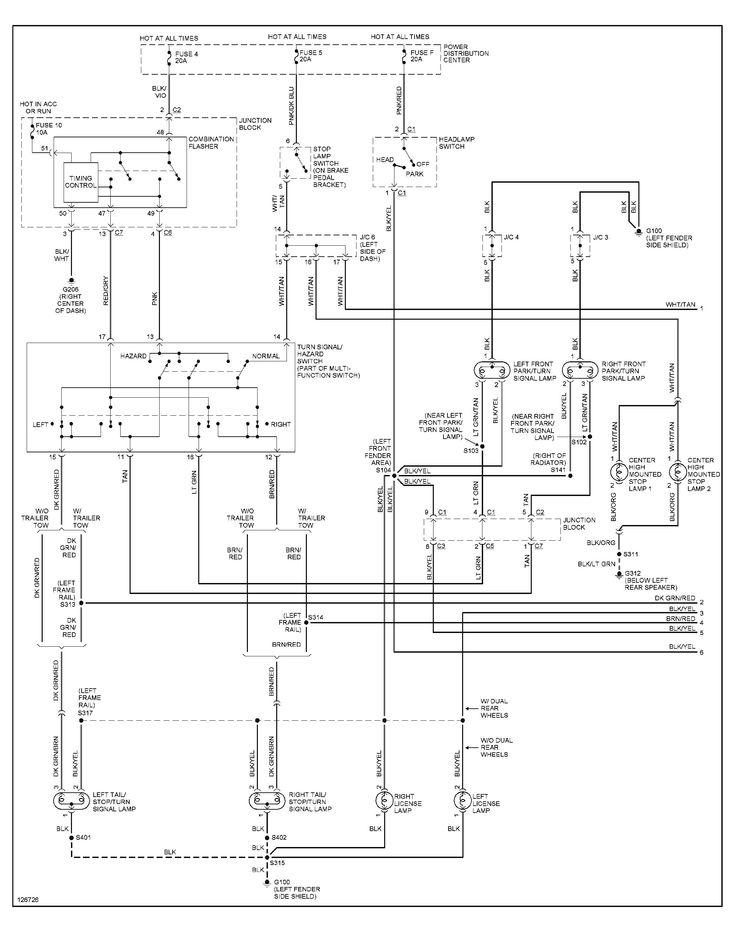 2001 Dodge Ram 1500 Tail Light Wiring Diagram in 2020 ...