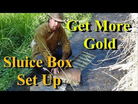 GET MORE GOLD !!! Sluice Box Set Up - Tips and Tricks.   ask Jeff Williams