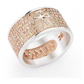 Ring AMEN Vater Unser rosa Silber 925 ITALIENISCH | Online Verfauf auf HOLYART