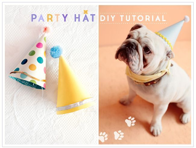 "i think i want to try to do this for ivy's birthday. and set up a little ""studio"" to take her portrait. Party Hat Tutorial / Ruche Blog"