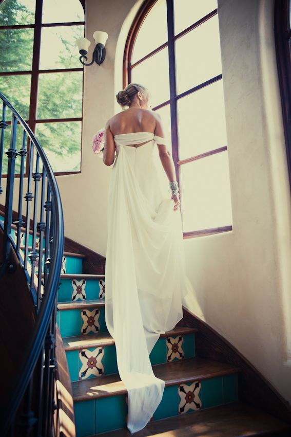 Peter-Langner-Wedding-Gown  paint back staircase like this!!!!