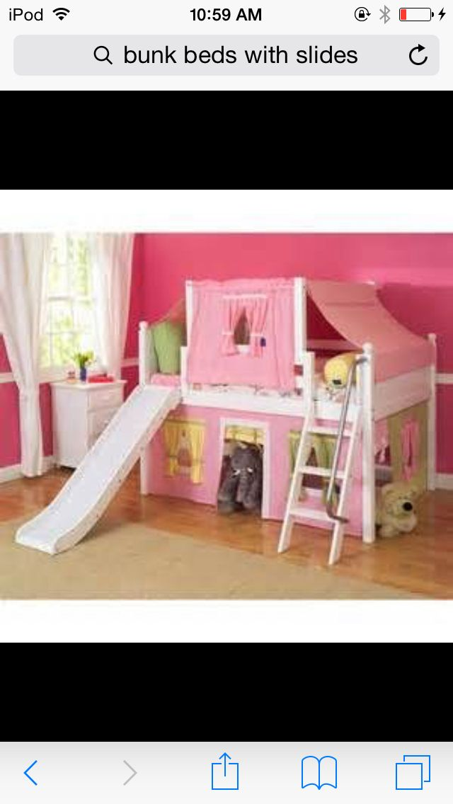 girls bunk bed with slide for little girls - Etagenbetten Fr Teenager Jungen