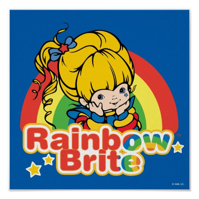vintage Hallmark Rainbow Brite doll starlight 8 Party Invitation /&Thank you card