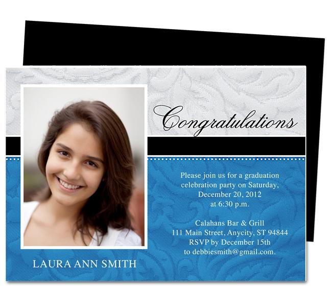 Applause Graduation Announcement Invitation Template – Announcement Template