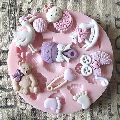3D+Bear+Feet+Baby+Toy+Silicone+Chocolate+Mold+Fondant+Sugar+Craft+Molds+–+USD+$+3.59