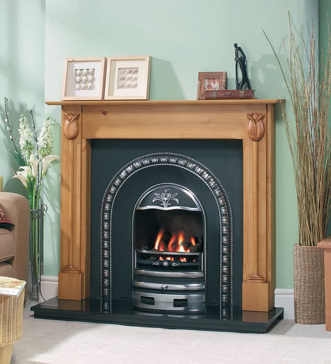 80 best Wooden Fireplaces images on Pinterest   Fireplace ...