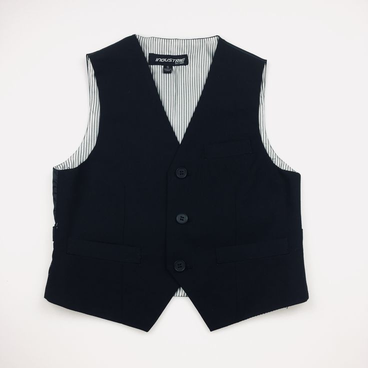 INDUSTRIE, black waistcoat / formal vest, excellent used condition (EUC), boy's size 5, $20