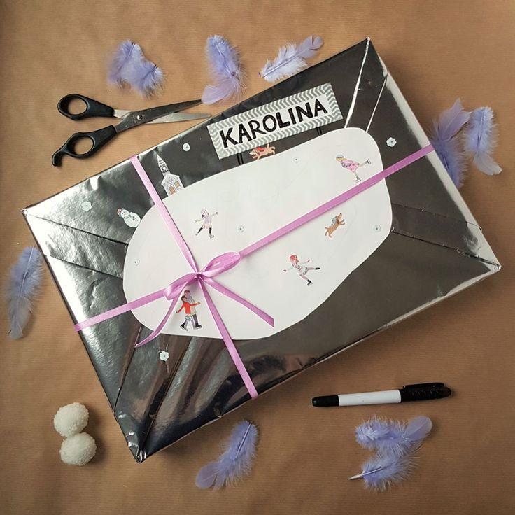 kreatywne pakowanie prezentów [creative gifts wrapping - rink and stickers]
