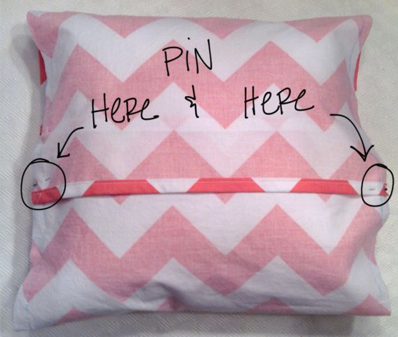 How to sew a throw pillow cover. Seems very easy.