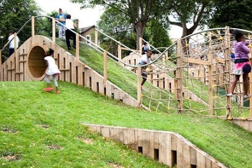 A beautiful natural playground!  Wish I had hills.