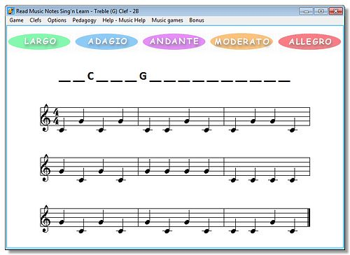 Musical Notes - Learn to read music. Play Kids Games