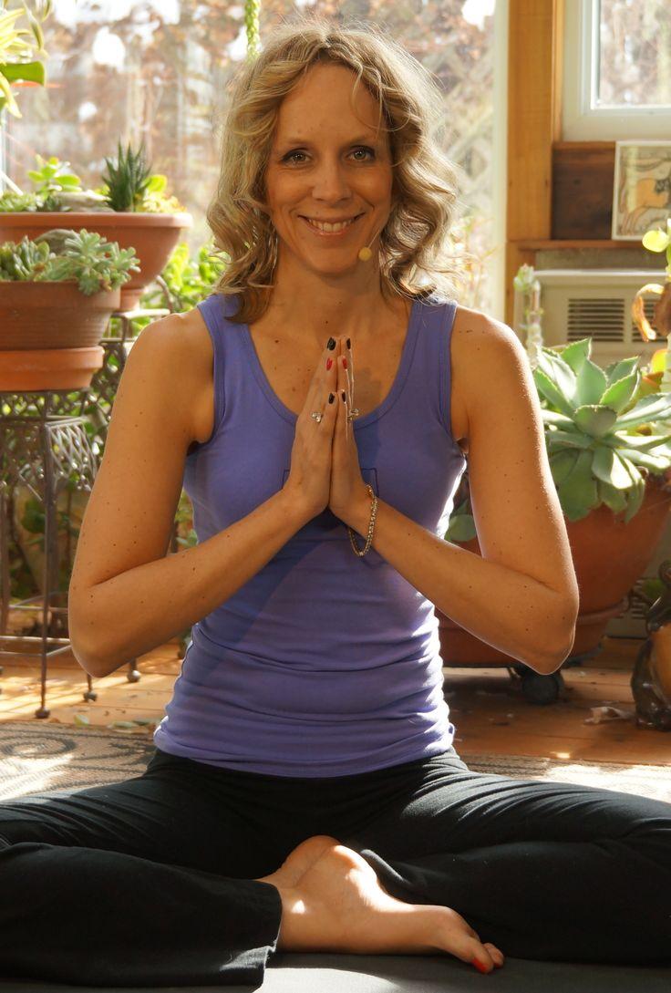 Namaste !   Melissa West  wearing Squeezed Yoga Clothing  http://squeezed.ca
