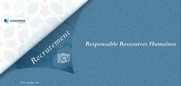 #Cooper_Pharma: #Recrutement d'un #Responsable #Ressources_Humaines à #Marrakech----->
