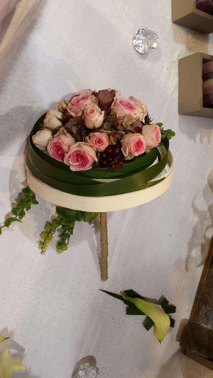bouquet de mariée tige