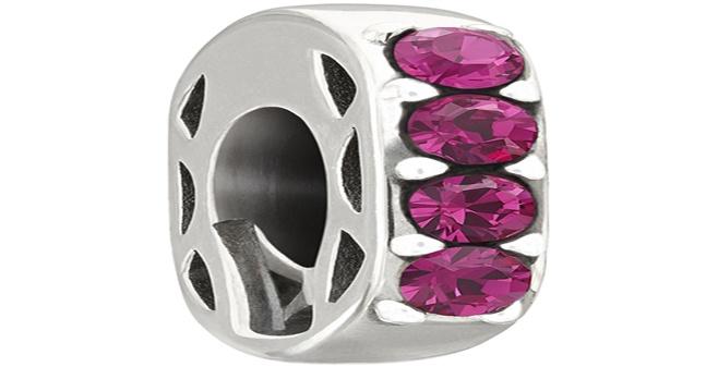 Chamilia - Simple Elegance with fuchsia Swarovski Crystal