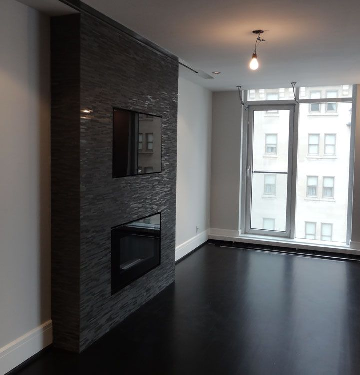 Image Detail For Tv Fireplace Accent Wall In Downtown