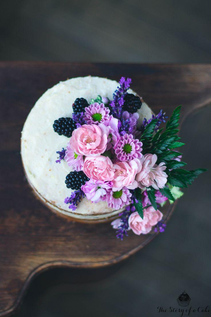 Vanilla Lavender Naked Cake
