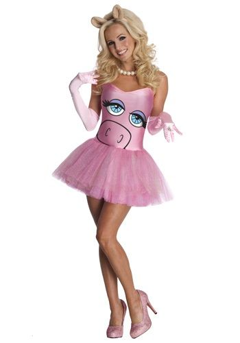 Add a sexy twist to Miss Piggy's look when you wear this Miss Piggy costume. This Miss Piggy costume is a sexy Muppet costume idea for women.