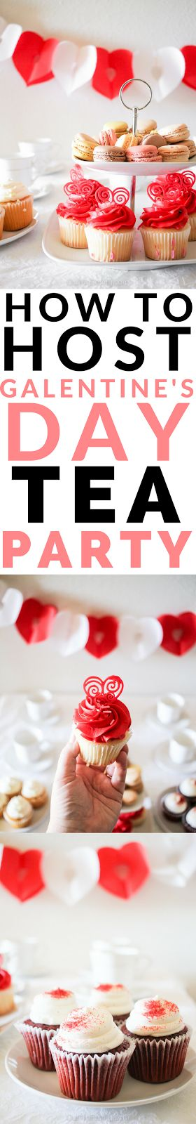 Throw a tea party for your girlfriends this Valentine's Day with style and enjoy a full-blown Galentine's Day Party with a cup of tea and some delicious sweets!