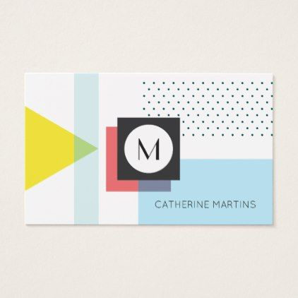 Retro style abstract template business card - stylist business cards cyo personalize businesscard diy