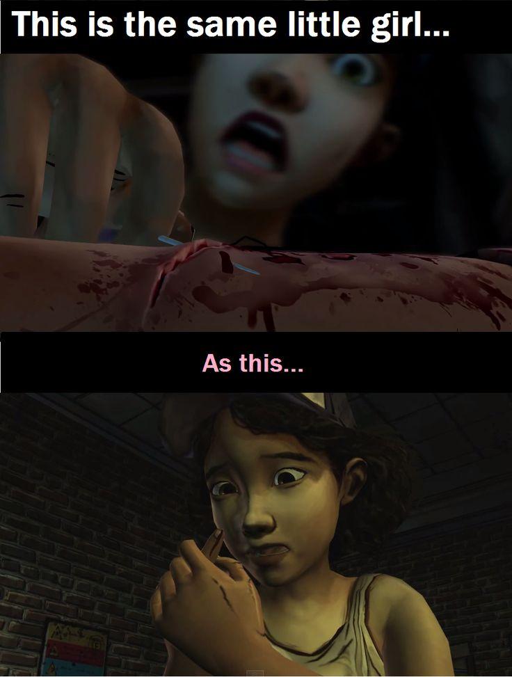 Evolution de Clémentine de la saison 1 à la saison 2 de Walking Dead par Telltale.