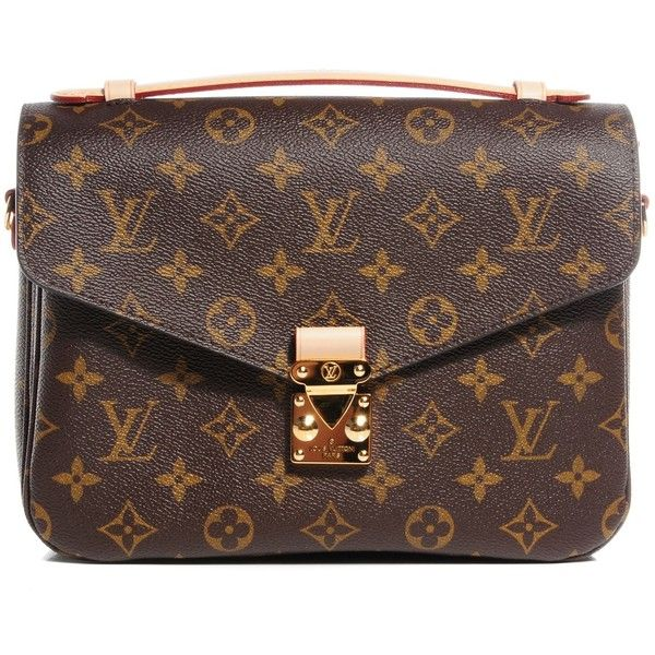LOUIS VUITTON Monogram Pochette Metis ❤ liked on Polyvore featuring bags, handbags, shoulder bags, louis vuitton handbags, brown shoulder bag, flap purse, louis vuitton messenger bag and flap handbags