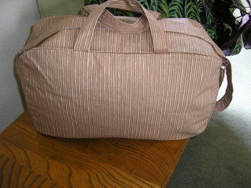 Weekend Bag in Brown Stripe strong Cotton