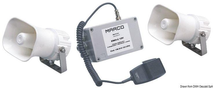 Tromba/fischio elettronico multifunzionale con segnali codificabili Scopri di più su -->