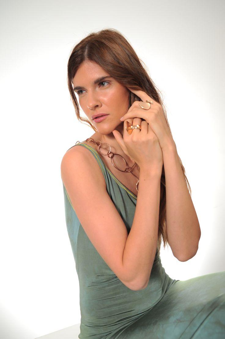 dress         - Nir Lagziel jewels        - Natsuko Toyofuku make+hair - Luca Apri starring      - Julia Mashinskaia shooting in spaziocorsocomo9 milan 2016 #fashion #fashion-addicted #jewelry #silver #green #modeling #fashionblogger #accessories #mode #bijoux #bronze #vert #schmuck #bronze #gruen #gioielli #moda #bronzi #verde #accessori