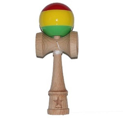 Jumbo Rasta Super Kendama Super Sticky Japanese Wooden Toy Free String USA Seller *** Want additional info? Click on the image.