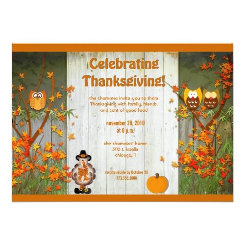 Best Thanksgiving Invites Images On   Invites