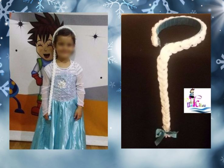 Trenza de Elsa de Frozen hecha especialmante para Emma y Norah/Braid of Elsa from Frozen specially made for Emma and Norah