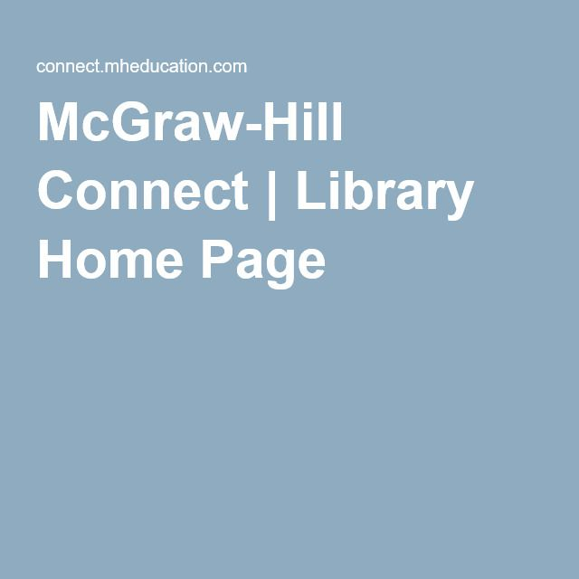 McGraw-Hill Connect | Library Home Page